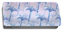 Pink Blue Palm Tree Grove Portable Battery Charger