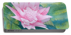 Pink Bromiliad Portable Battery Charger