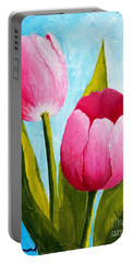 Pink Bubblegum Tulip II Portable Battery Charger