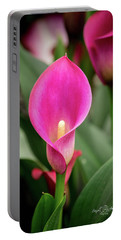 Pink Calla Portable Battery Charger