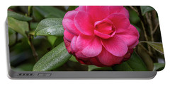 Pink Camelia 02 Portable Battery Charger