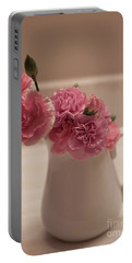 Pink Carnations Portable Battery Charger by Sherry Hallemeier