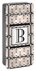Pink Champagne Deco Monogram  B Portable Battery Charger