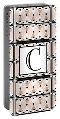 Pink Champagne Deco Monogram  C Portable Battery Charger
