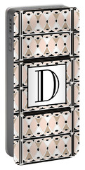 Pink Champagne Deco Monogram  D Portable Battery Charger