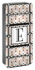 Pink Champagne Deco Monogram  E Portable Battery Charger