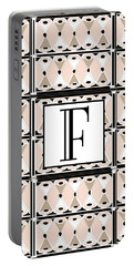 Pink Champagne Deco Monogram  F Portable Battery Charger