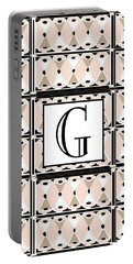 Pink Champagne Deco Monogram  G Portable Battery Charger
