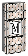 Pink Champagne Deco Monogram  M Portable Battery Charger
