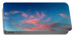 Pink Clouds Abstract Portable Battery Charger