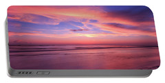 Pink Sky And Ocean Portable Battery Charger