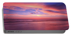 Portable Battery Charger featuring the photograph Pink Sky And Ocean by Doug Camara