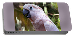 Pink Cockatoo Portable Battery Charger by Haleh Mahbod