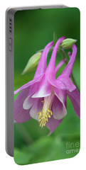 Pink Columbine - D010096 Portable Battery Charger by Daniel Dempster