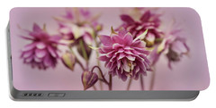 Pink Columbines Portable Battery Charger