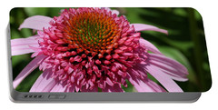 Pink Coneflower Close-up Portable Battery Charger