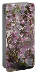 Pink Crabapple Branch Portable Battery Charger