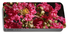 Portable Battery Charger featuring the photograph Pink Crepe Myrtle Flowers by Debi Dalio