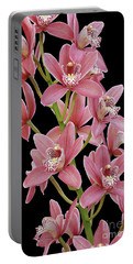 Pink Cymbidium Orchid Portable Battery Charger
