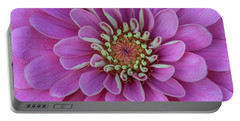 Portable Battery Charger featuring the photograph Pink Dahlia by Dale Kincaid