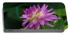 Pink Dahlia Portable Battery Charger by Glenn Franco Simmons