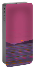 Pink Dawn Portable Battery Charger by Val Arie