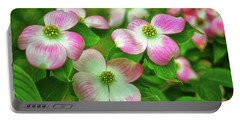 Pink Dogwoods 003 Portable Battery Charger by George Bostian