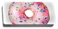 Pink Donut With Sprinkles Portable Battery Charger