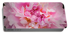 Pink Double Peony Portable Battery Charger