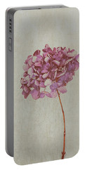 Pink Dried Hydrangea Portable Battery Charger