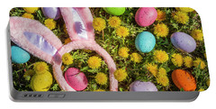 Portable Battery Charger featuring the photograph Pink Easter Bunny Ears by Teri Virbickis