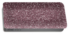 Pink Faux Glitter Ombre Portable Battery Charger by Ps