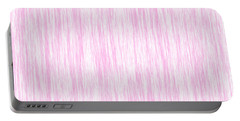 Pink Fiber Portable Battery Charger