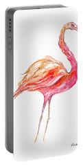 Pink Flamingo Bird Portable Battery Charger