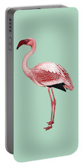 Pink Flamingo Isolated Portable Battery Charger