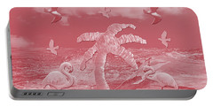 Pink Flamingo's Palms Portable Battery Charger