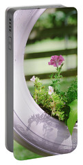 Portable Battery Charger featuring the photograph Pink Floral 2 by Andrea Anderegg