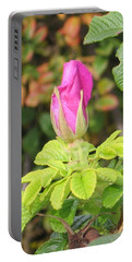 Pink Flower Bud Portable Battery Charger