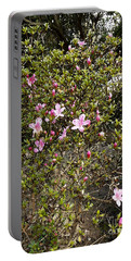 Pink Flower Bush Portable Battery Charger