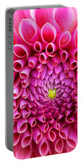 Pink Flower Close Up Portable Battery Charger