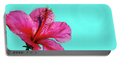 Pink Flower In Water Portable Battery Charger