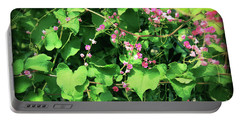 Pink Flowering Vine2 Portable Battery Charger
