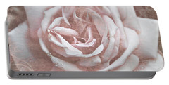 Pink Garden Rose Portable Battery Charger