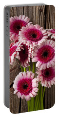 Pink Gerbera Daisies Portable Battery Charger