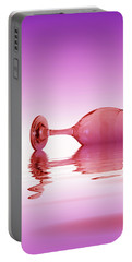 Pink Glass Portable Battery Charger by David French