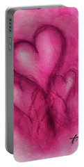 Pink Hearts Portable Battery Charger