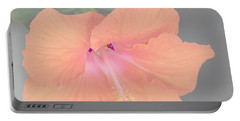 Pink Heavenly Hibiscus Portable Battery Charger