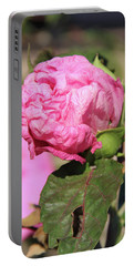 Pink Hibiscus Bud Portable Battery Charger