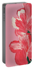Pink Hibiscus Flowers  Portable Battery Charger