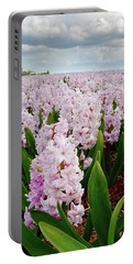 Pink Hyacinth  Portable Battery Charger by Mihaela Pater